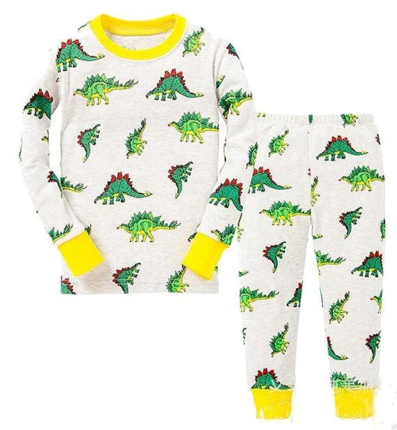 """Babygp dos conjuntos de pijama de """"dinosaurios"""" para los niños de algodón 100"""