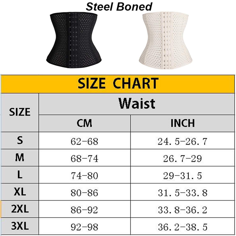 Dhyiklo Women Trainer Body Shapers Underbust Belt Corset Waist Slimming Shapewear Beige XXXL China