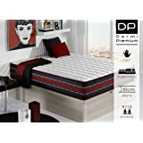 DormiPremium COLCHÓN VISCO Denver GRAFENO 80X180 Altura 30 cm, (5cm visco)