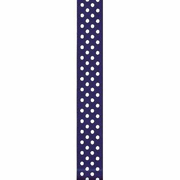 "5 yards  7//8/"" Glitz Silver Polka Dot on Pink Printed Grosgrain Ribbon"