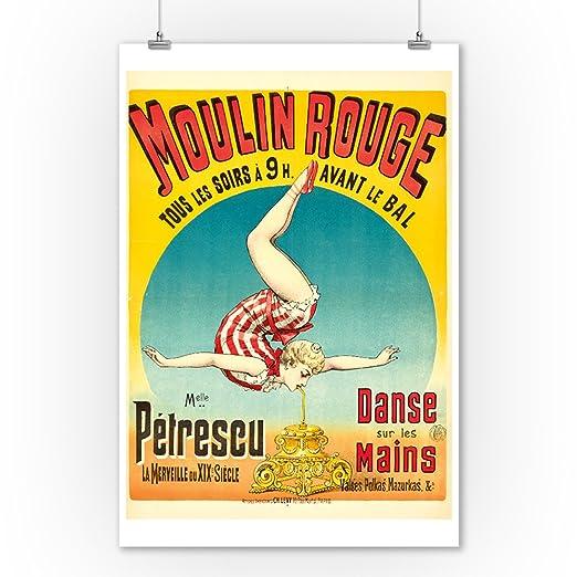 Amazon.com: Moulin Rouge - Melle Petrescu Vintage Poster ...