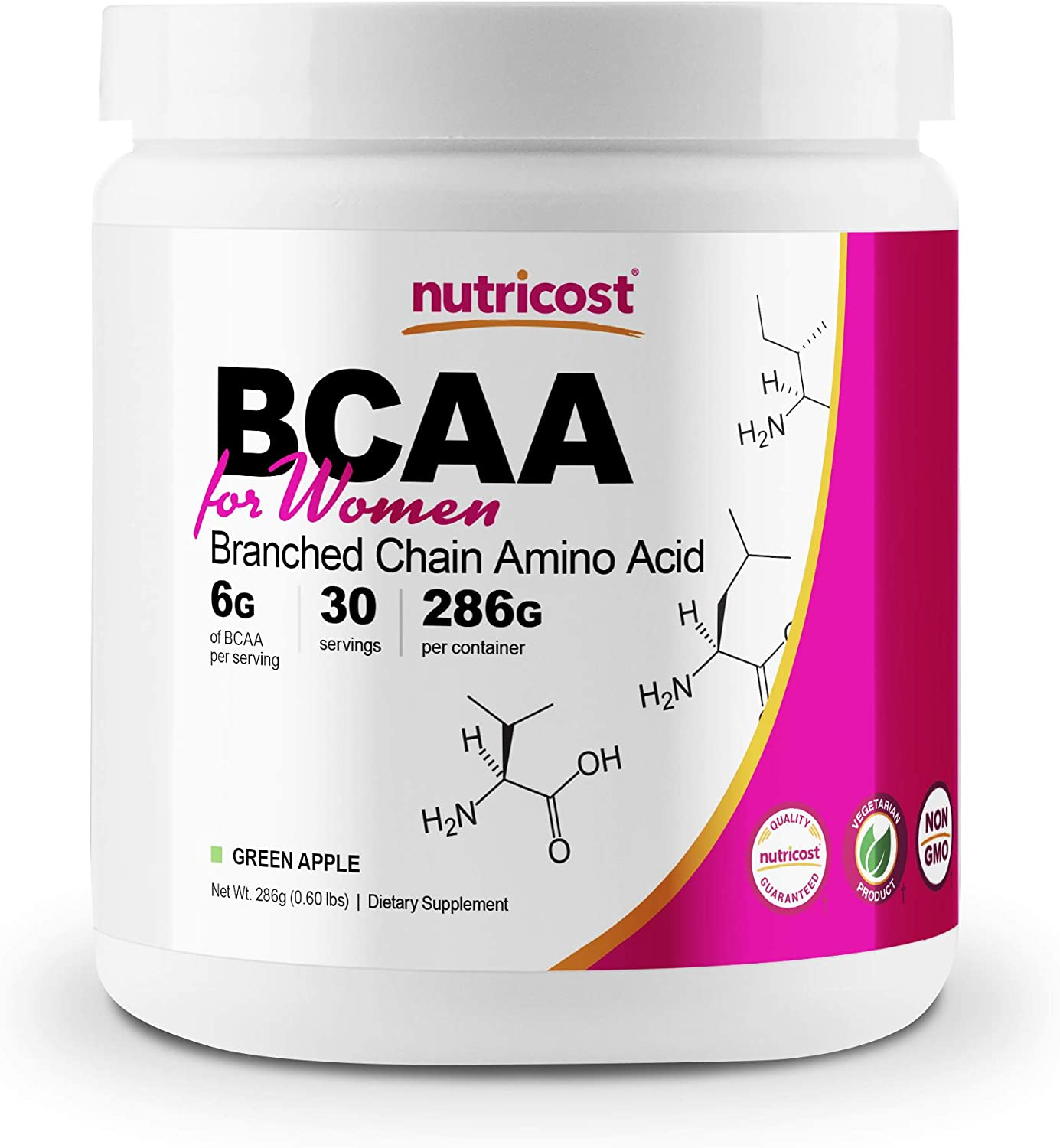 Nutricost BCAA for Women (Green Apple, 30 Servings) - Formulated Specifically for Women - Non-GMO and Gluten-Free