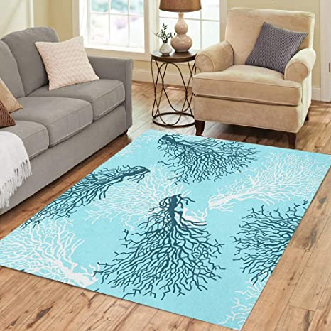 Amazon.com: Semtomn Area Rug 5\' X 7\' Blue Pattern Colorful ...
