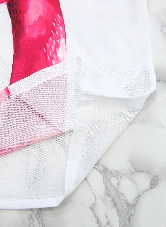con grafica astratta e schizzi di pittura Futurino Maglietta a maniche corte da donna
