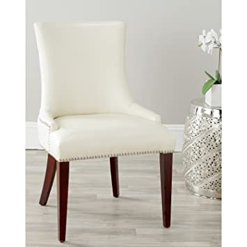 Amazoncom Safavieh Mercer Collection Eva Leather Dining Chair