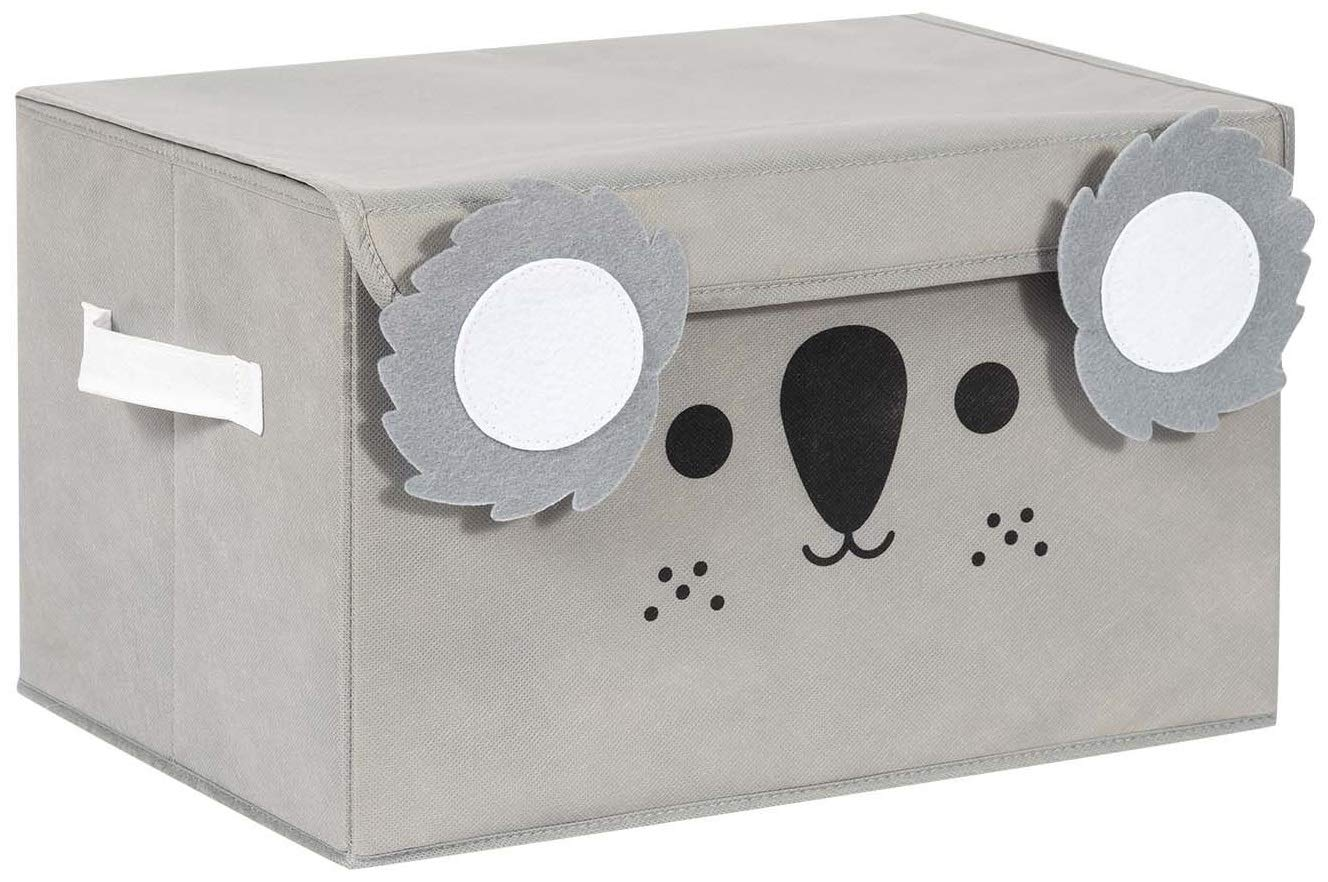 Katabird Storage Bin for Toy Storage, Collapsible Chest Box Toys Organizer with Lid for Kids Playroom, Baby Clothing, Children Books, Stuffed Animal, Gift Baskets, Gray Koala by Katabird