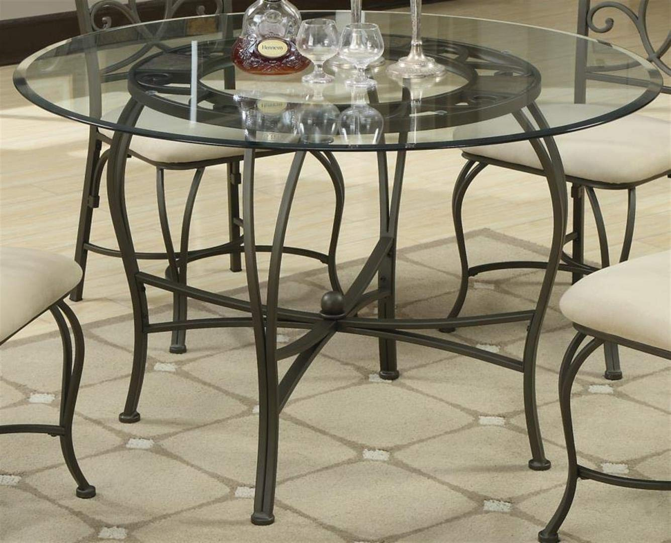 Coaster Home Furnishings Round Glass Top with 1'' Bevel Clear Tempered by Coaster Home Furnishings (Image #3)