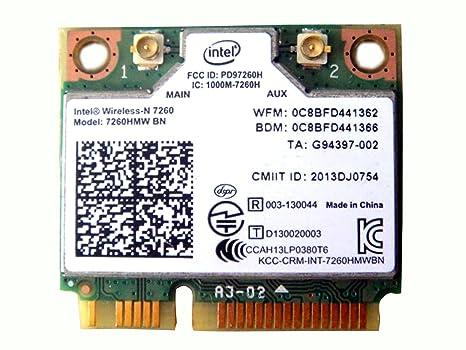 Intel Wireless-n 7260 7260hmw Bn Half Mini Pcie Pci-express Wlan Wifi Card  Module 802 11 B/g/n + Bluetooth Bt 0y74h6 for Dell Version