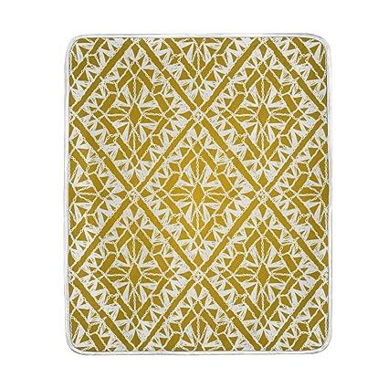 Amazon.com: U vida elegante oro rayas geométrico manta suave ...