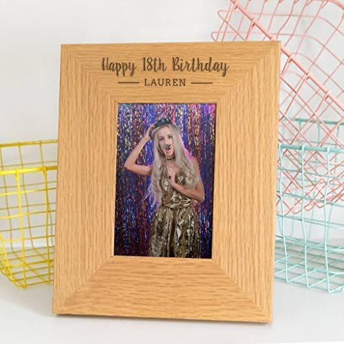Engraved Birthday Frame Picture Personalized 18th Gifts 21st 30th Friend For