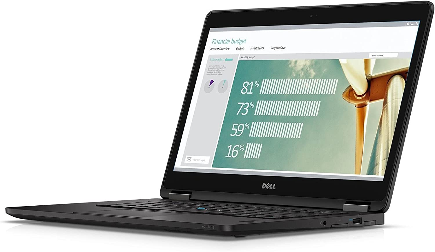 "Dell Latitude LatE7270-1836BLK 12.5"" HD Ultrabook (Intel Core i7-6600U, 8GB RAM, 256GB SSD, Windows 7 Pro)"