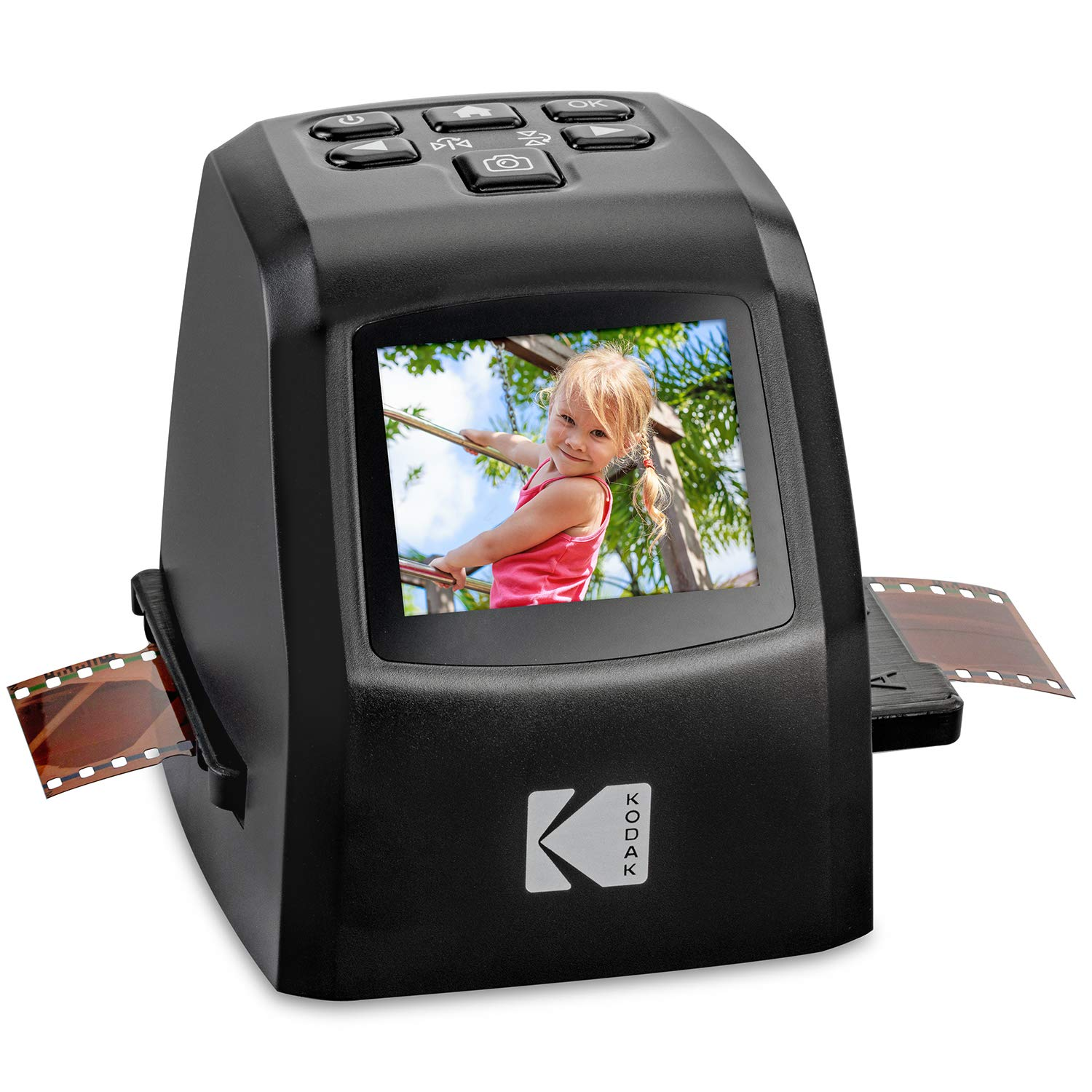 KODAK Mini Digital Film & Slide Scanner - Converts 35mm, 126, 110, Super 8 & 8mm Film Negatives & Slides to 22 Megapixel JPEG Images - Includes - 2.4 LCD Screen - Easy Load Film Adapters by Kodak (Image #1)