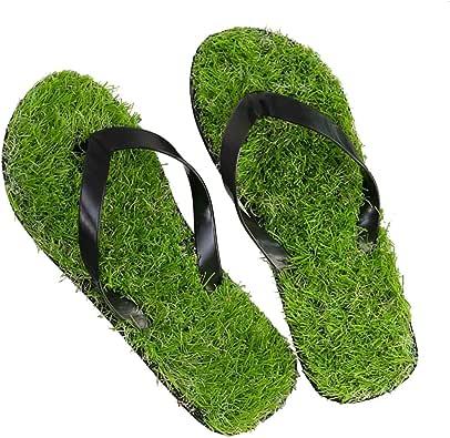 GAXmi Flip Flops Women Men Kids Summer Casual Artificial Lawn Grass Slippers
