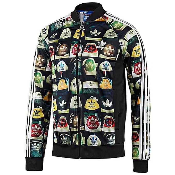 d492407bb7d63 Adidas Originals Allover Print Superstar Track Jacket #F78108 (XL ...