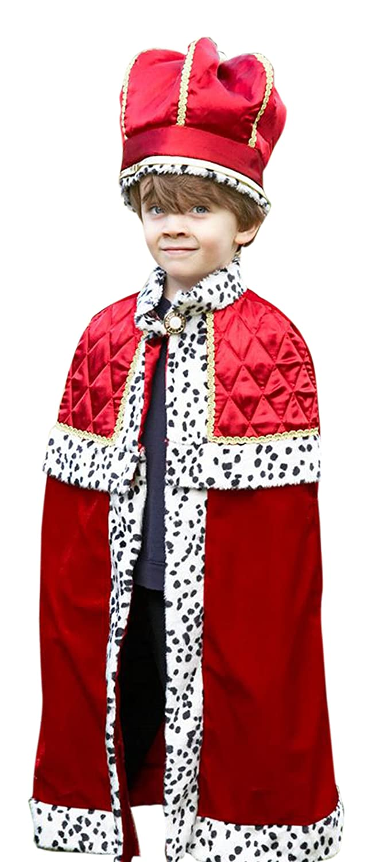 Fancy Fancy Fancy Ole - Jungen Boy Karneval Komplett Kostüm König mit Krone , Mehrfarbig, Größe 98-110, 3-5 Jahre 46db24