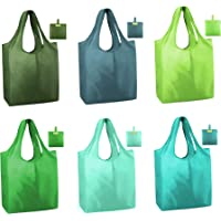 Reusable Totes Bags for Shopping Grocery 6 Pack Ripstop 50LBS Xlarge