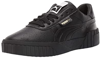 newest 9be83 ef969 PUMA Women s Cali Sneaker, Puma Black-Puma Black ...