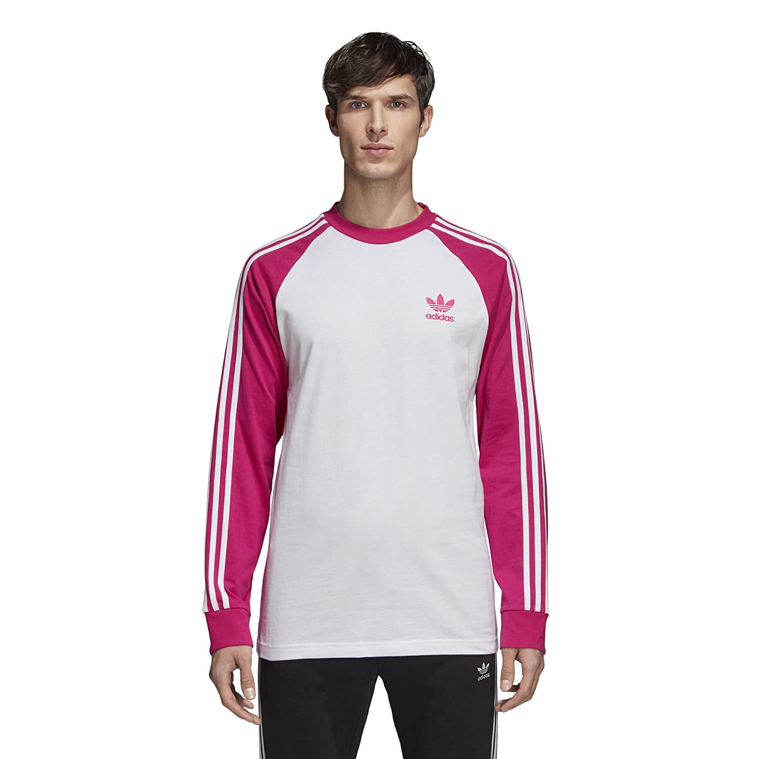 686d62948942 adidas Originals Men s 3-Stripes Long Sleeve Tee at Amazon Men s Clothing  store