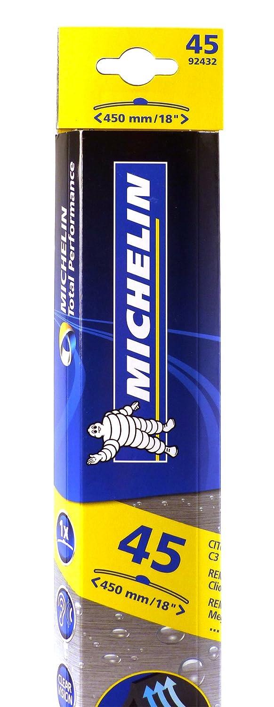 MICHELIN 92432 escobilla - escobillas (Negro, Caucho, Hanging box): Amazon.es: Coche y moto