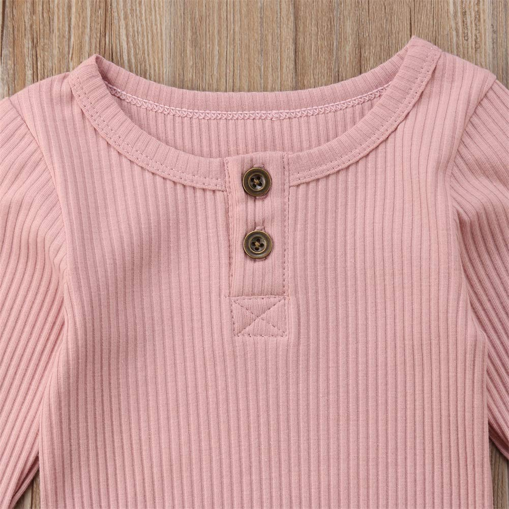 Emmababy Newbown Baby Boys Girls Knitted Sweather Rompers Sleepwear Long Sleeves Pajamas Fall Winter Bodysuit Pink by Emmababy (Image #3)