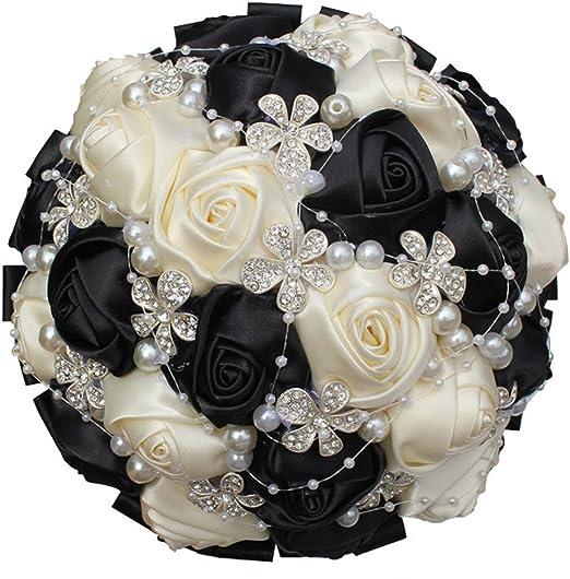 Fall Wedding Orange Cream Silk Rose Flower Crystal Rhinestone Bling Boutonniere