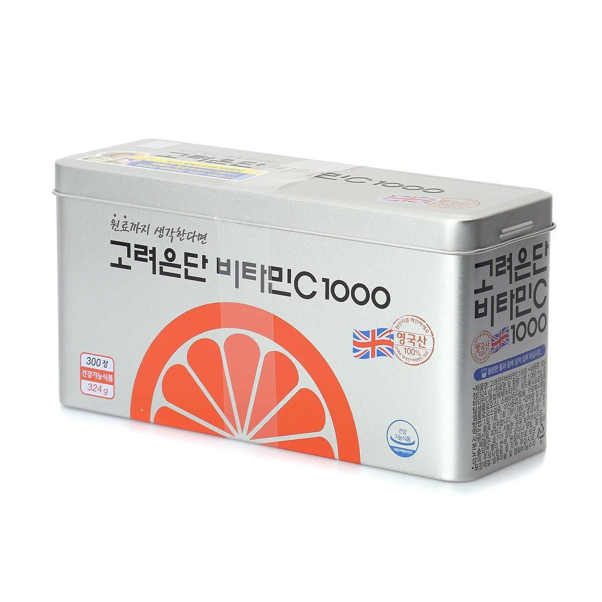 KOREA EUNDAN Vitamin C 1000 300T x 1000mg 100% British DSM Supplement UK