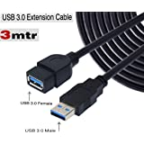 DAHSHA 10 feet USB 3.0 Male A to Female A Extension Cable Super Speed 5GBps for Laptop/PC/Mac/Printers/Keyboards/Hard Disks- Black