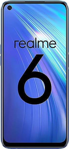 "realme 6 – Smartphone de 6.5"", 4 GB RAM + 128 GB ROM, Procesador OctaCore, Cuádruple Cámara AI 64MP, Dual Sim, Color Comet Blue: Amazon.es: Electrónica"