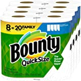 Bounty Quick-Size Paper Towels, White, 8 Family Rolls = 20 Regular Rolls (Packaging May Vary)