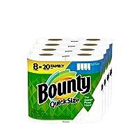 Bounty Quick-Size Paper Towels, 8 Family Rolls = 20 Regular Rolls
