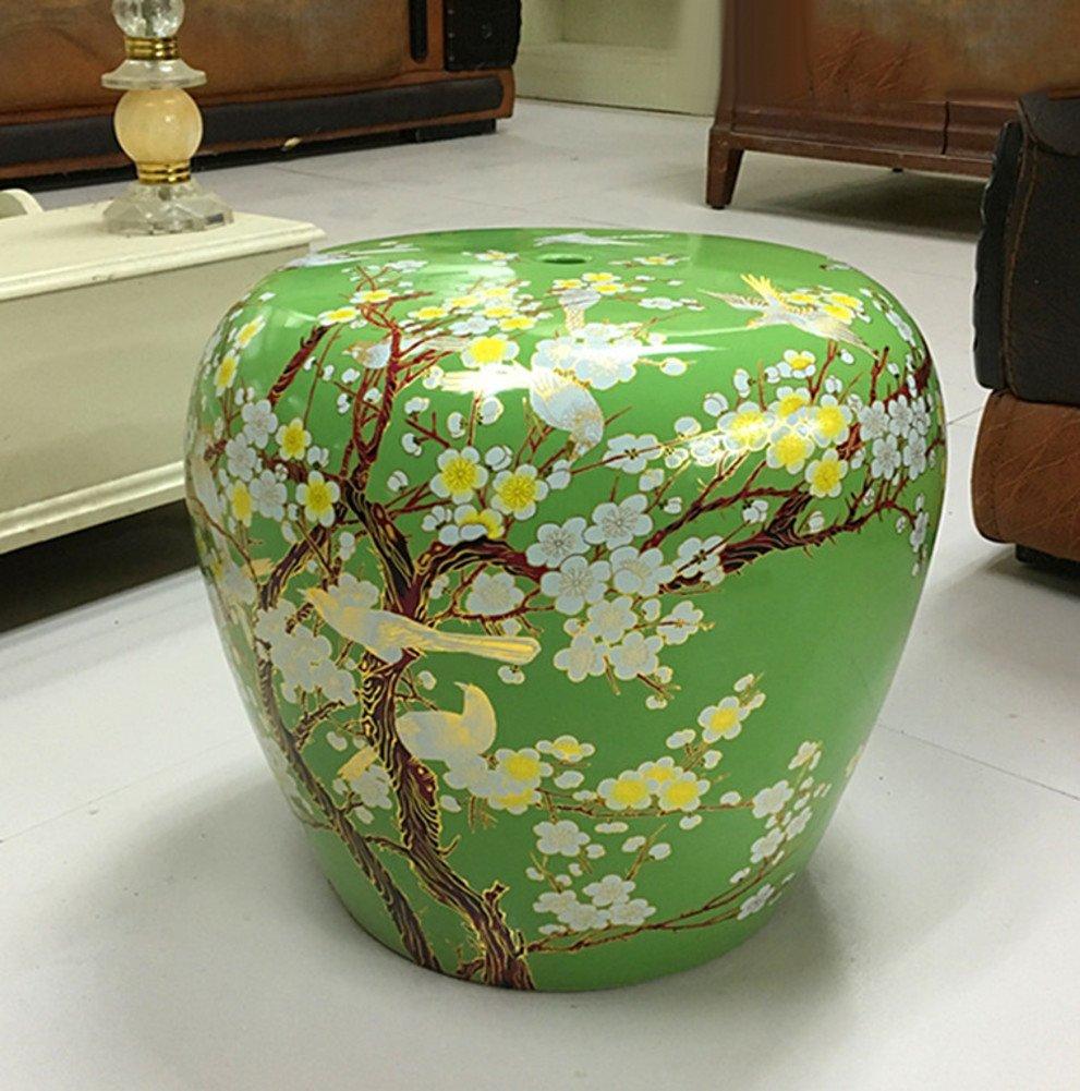 Enjoyable Amazon Com American Style Village Bird Porcelain Stool Drum Pabps2019 Chair Design Images Pabps2019Com