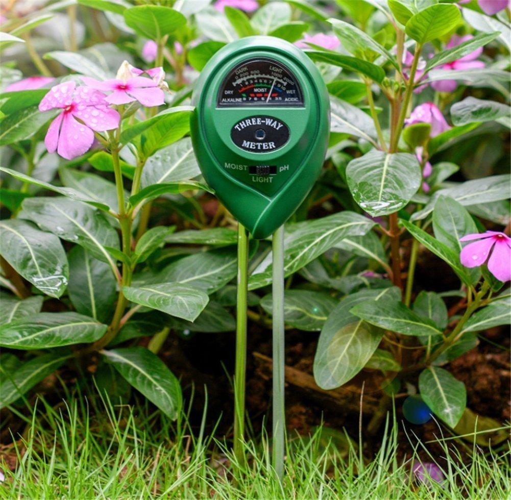 Testeur 3 en 1 Testeur dhumidit/é du sol Pour sol v/ég/étal Id/éal pour pelouse de ferme et jardin Sungpunet densoleillement et dacidit/é