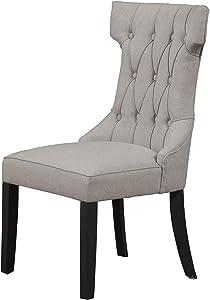 Alpine Furniture Dining Chair Vintage Black-Grey