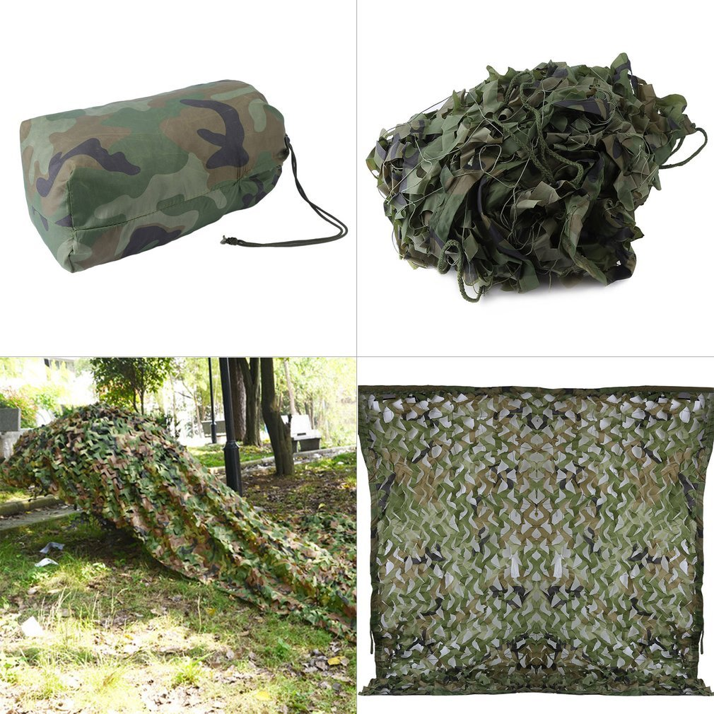 Homgrace Outdoor Woodland Camouflage Netting Military Hunting Cover Net (10 ft X 16 ft)