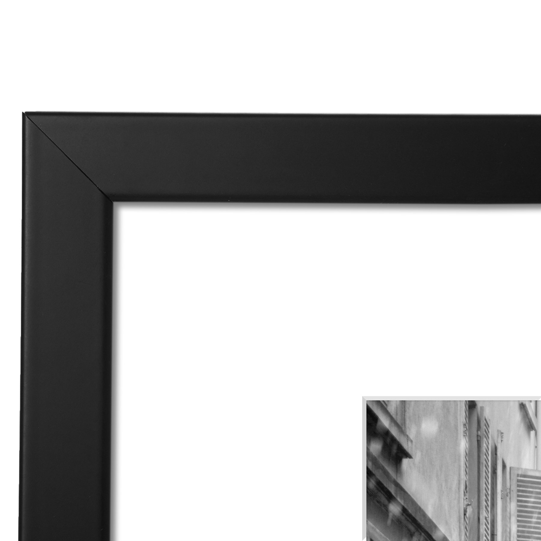 11x14 Black Picture Frame - Made to Display Pictures 8x10 with Mat ...