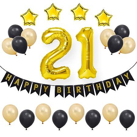 bestoyard 23 uds. 21 Feliz cumpleaños Decoraciones Artículos ...