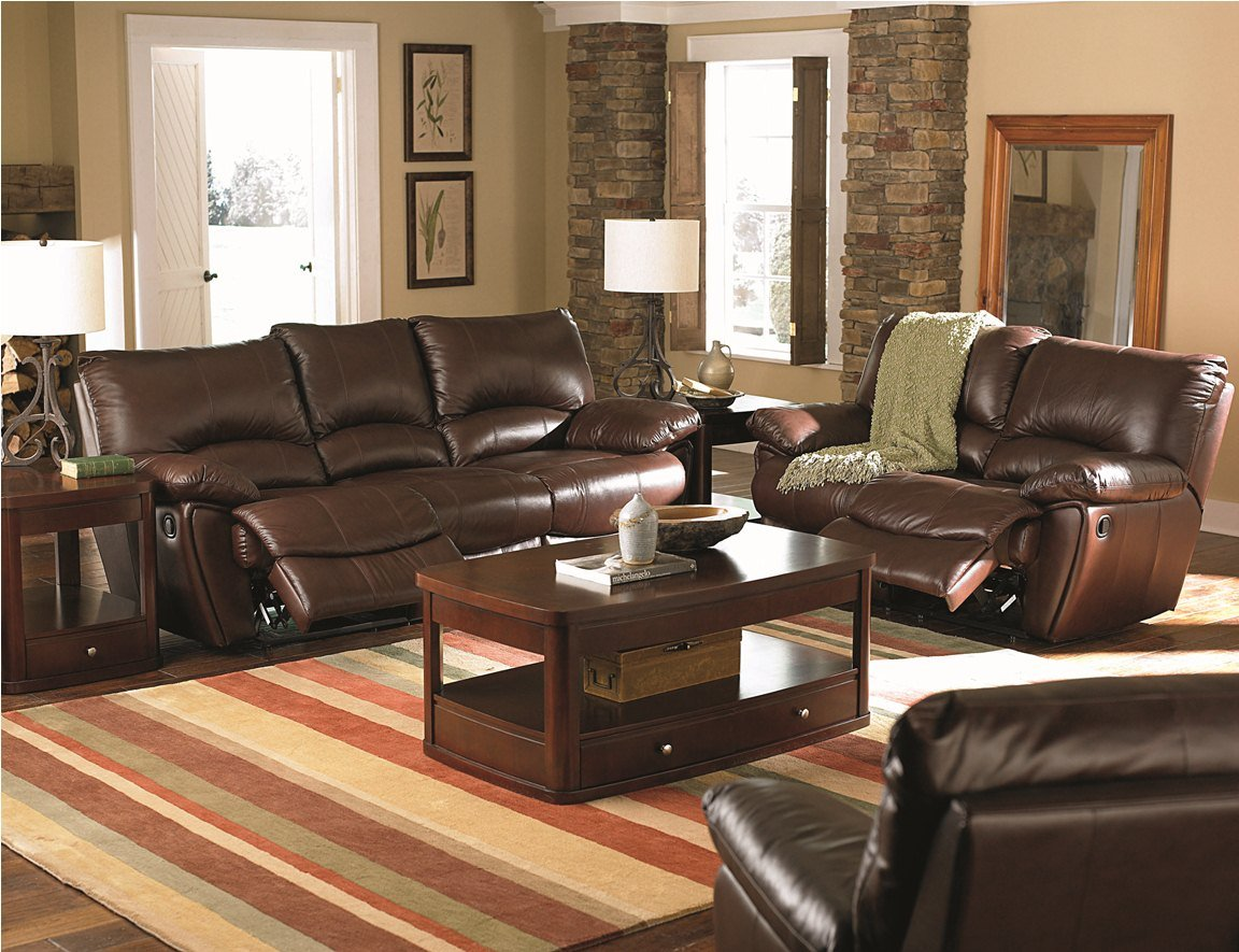 Marvelous Coaster Home Furnishings Clifford Collection Brown Leather 3Pc Reclining Living Room Group Gmtry Best Dining Table And Chair Ideas Images Gmtryco