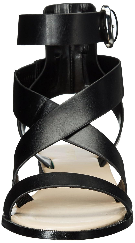 Nine West B01MQJQAXF Women's Velope Leather Sandal B01MQJQAXF West 6 B(M) US|Black 278733