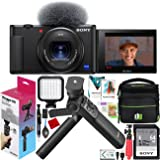 Sony ZV-1 Compact Digital 4K Camera Vlogger Creator's Kit ACCVC1 Includes GP-VPT2BT Shooting Grip with Wireless Remote…