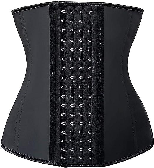 SHAPERX Femmes Latex Corset Taille Formateur Waist Cincher Sport Ceinture Underbust Body