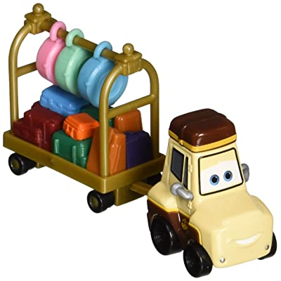 Disney Planes Ted Yale with Luggage Cart Diecast Vehicle: Toys & Games