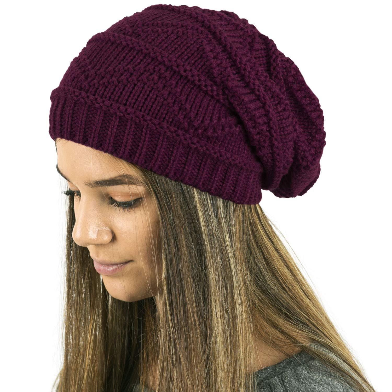TOSKATOK Ladies Knit Slouch Winter Hat//Beanie