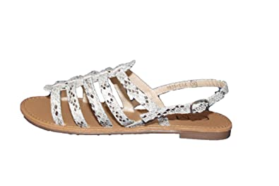 Sandale Cm Spartiate Blanc Paris Croco Femme40 WE29DHI