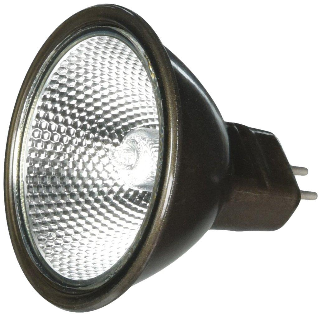 Ushio BC6363 1003541 - 50W - Superline Reflekto - Bronze Coated Backing - EXN Flood - Glass Face - 3,500 Life Hours - 12V Halogen Light Bulb by Ushio