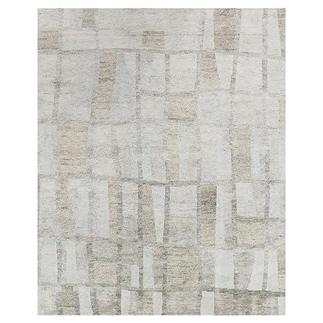77a56e70945 Amazon.com  Kathy Kuo Home Zayna Modern Grey Stone Patchwork Linen ...