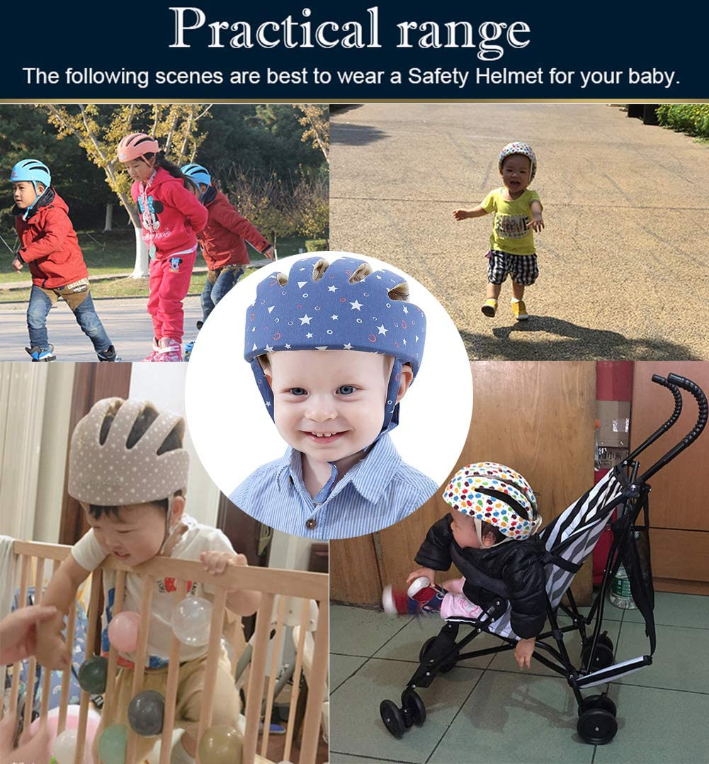 ESUPPORT Infant Baby Adjustable Safety Helmet Headguard Protective Harnesses Hat