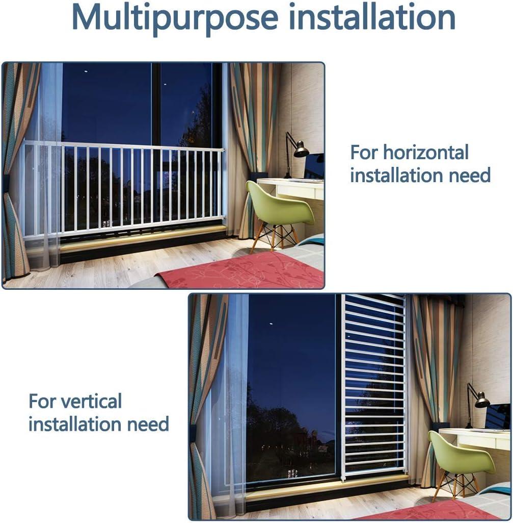 76 cm de alto Barandilla de seguridad para ventanas barandilla de balc/ón franc/és para interior de ventana barandillas de ventana para ventana de protecci/ón de ventana para ni/ños de 80 a 36 pulgadas