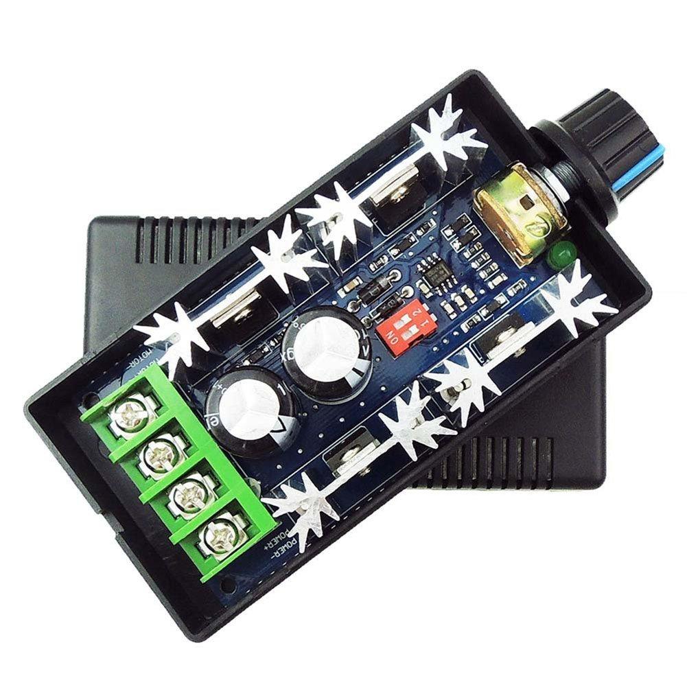 SODIAL(R) 12V 24V 36V 48V 40A (max) PWM DC Motor Speed Controller Adjustable Variable speed Switch CCM9N Regulator Driver