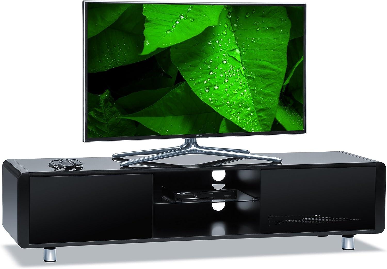 Centurion es Compatible con Capri Gloss Black con costados en Negro, gabinete de TV de Pantalla Plana de 32