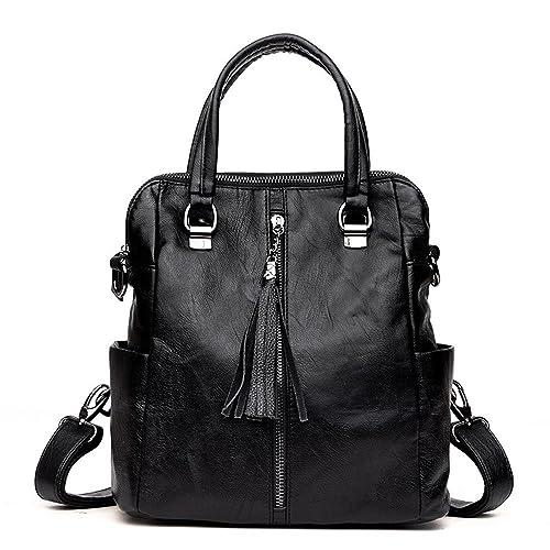 KekeHouse® Women Backpack 3 ways Soft PU Leather Vintage Tassel Ladies  Shoulder Handbags Rucksack College Schoolbag for Girls Casual Daypack Backpacks  Bag ... 53f5ed90d41dc